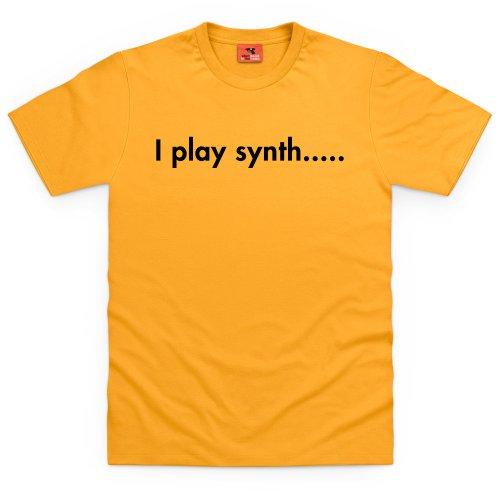 I Play Synth T-Shirt, Herren Gelb