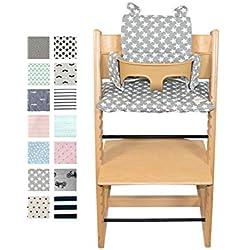 Fundas BCN ® - F135 - Coussin pour chaise haute Stokke Tripp Trapp ® - Fun Vintage Star