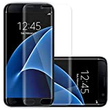 Mobile Screen Tempered Glass Black (Edge To Edge) Tempered Glass Screen Guard For Samsung Galaxy S7 SM-G930 (Clear)