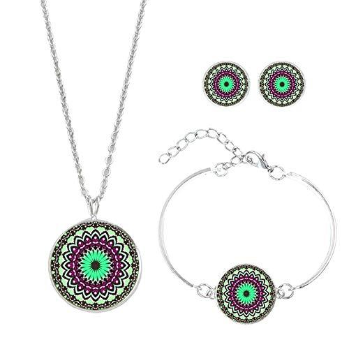8455ccf0a05a Leisial Conjunto de Joyas - Arete + Pulsera + Collar Estilo Bohemio  Decorativos Joyería Accesorios de