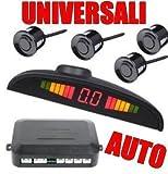 ProDigital_Moto 49561 - Juego de 4 sensores de aparcamiento con señal acústica y pantalla LED