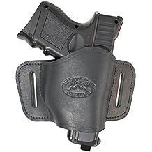 Fondina da cintura Barsony, in pelle, per lato destro, taglia 18, per Bersa CZ Kahr Walther Sig Ruger, nuova