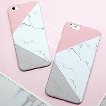Funda para iPhone 6Flores rosas Flores tropicales Vintage con Flores/Mármol Rosa/Negro/Color Blanco y Morado Rosa Pastel Diseño de im, rosa pastel, iPhone 6