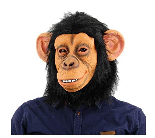 wanjuna Tiermasken Affen Maske Latex Tierkopf Maske Für Halloween Kostüm Neuheit AFFE Gorilla Kopf Maske Dekorationen (Gorilla Kopf Kostüm)