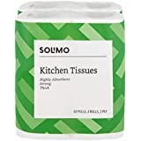 Amazon Brand - Solimo 2 Ply Kitchen Tissue/Towel Paper Roll - 60 Pulls (Pack of 4)