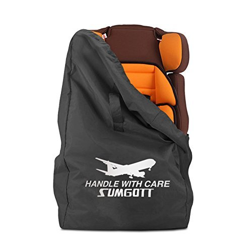 Autositz Reisetasche-SUMGOTT Ultra robuste Ballistic Nylon mit komfortablen gepolsterten Schultergurt für Air Travel Storage und Airport Gate Check, Infant Carrier & Booster (Cabrio Autositz Booster)