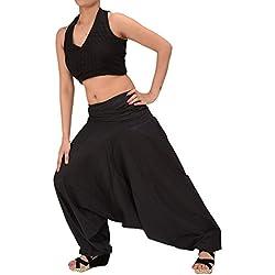 Skirts & Scarves, pantalones de yoga para mujer, de algodón, (color púrpura) negro Black 3 Talla única