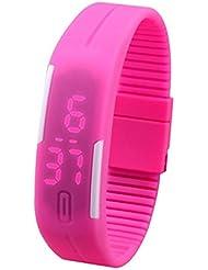 Reloj digital LED de silicona RUNNING UP en varios colores mws1845/3 - ROSA