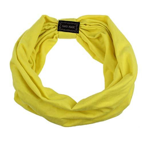 Scrolor Haarschmuck für Kurze Haare Sport stirnbänder für frauen headwear atmungsaktive baumwolle elastische haar zubehör multi farbe(Gelb,free)