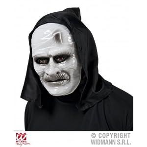 WIDMANN Mascara Momia de plástico con capucha adulto Halloween