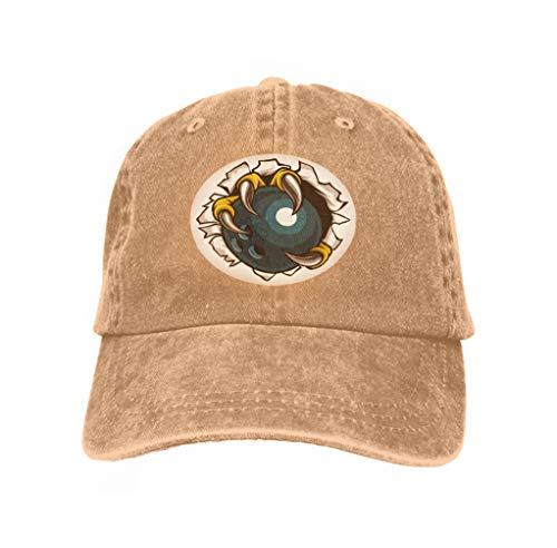Xunulyn Adjustable Hat Baseball Flat Bottom Cap Bowling Ball Eagle Claw Talons Tearing Eagle Bird Monster cl Sand Color