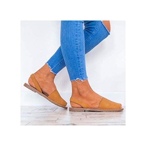 Women Sandals Fashion Peep Toe Summer Shoes Woman Faux Suede Flat Sandals Plus Size 43 Casual Shoes Woman Sandals Zapatos Mujer Khaki 7 Faux Suede Peep-toe