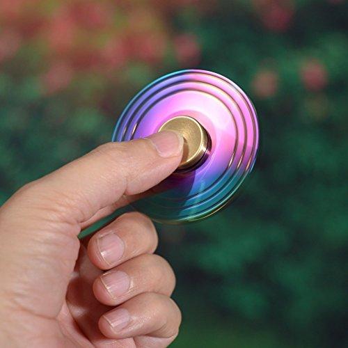 KONKY Finger Hand Spinner Legierung Fidget Fokus Spielzeug mit glatten Oberfläche Finish und Schnell Spinnen, EDC Spinner Kinder Erwachsene Stress Reducer für Angst Relief, ADD, ADHD und Finger Training, Cool -