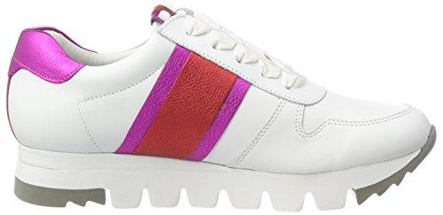 Kennel und Schmenger Schuhmanufaktur Lion, Sneaker Donna Weiß (Bianco/FUXIA/Campari Sohle Weiß)