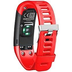 Sannysis correas para garmin vivosmart hr banda de pulsera de repuesto de silicona suave para Garmin Vívosmart HR pulsera de actividad con pulsómetro (rojo)