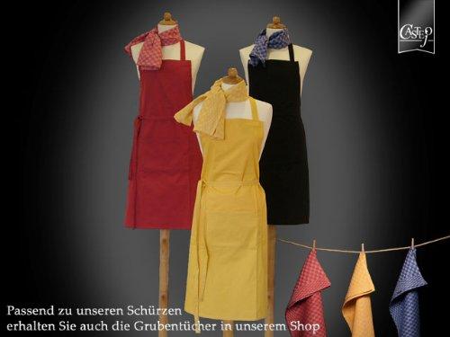 Castejo Kris van Rheyn Latzschürze / Bistroschürze in 3 Farben (rot) (Van Kris)