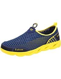 Pareja de Hombres al Aire Libre de Malla Hueca Zapatos Deportivos Casuales Correr Zapatos Transpirables Zapatillas de Deporte