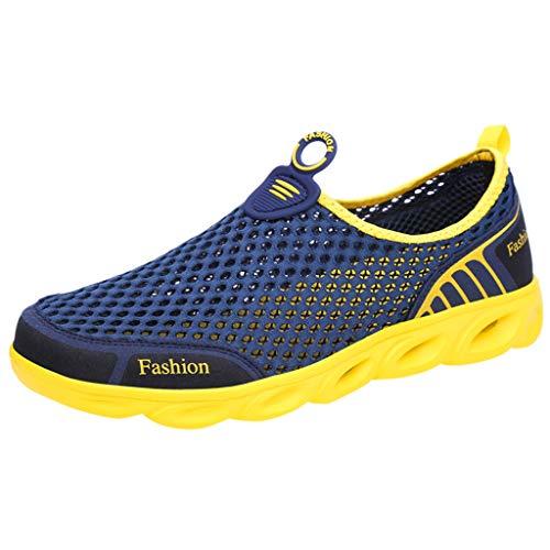 Strungten Herren Outdoor Mesh Wanderschuhe Atmungsaktive Soft Bottom Running Gas Sportschuhe Casual Fitness Schuhe Tennis Socke Gym Schuhe (Teen Short Compression)
