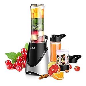 Housmile Smoothie Blender Makers, Grinder & Juicer - Portable Food Blenders Processor Shake Mixer Maker for Fruit, Milkshake, Vegetables Drinks, Ice, 300W