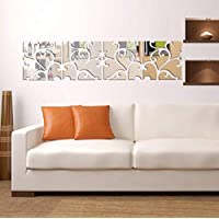Mirror Acrylic DIY Removable Wallpaper Art Decor Living Room Decoration Wall Stickers