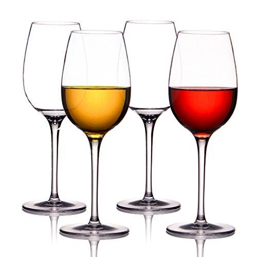 MICHLEY Unzerbrechliche Weingläser, 100% Tritan-Kunststoff bruchsicher Weinbecher, BPA-frei, Spülmaschinenfest 360ml, 4er Set