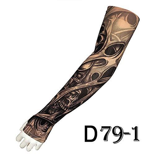handaxian 4pcs-7 braccio caldo unisex 4pcs-7 caldo del manicotto del tatuaggio di modo della manica del braccio del tatuaggio di protezione uv