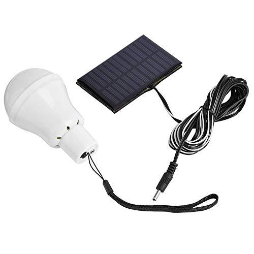 Tabanlly Tragbare LED-Lampe, solarbetrieben, Notfall-Glühbirne für Outdoor-Aktivitäten, Wandern, Camping, Zelt, Angel-Beleuchtung