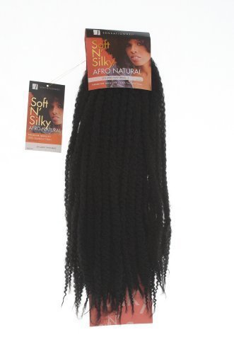 Black Hair Products Shop - Treccia afro, morbida e setosa, colore: nero