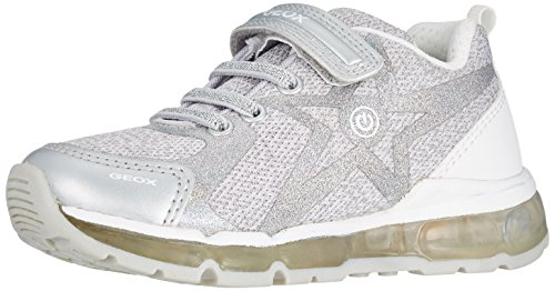 Geox J Android B, Zapatillas para Niñas, Plateado (Silver/White), 29 EU