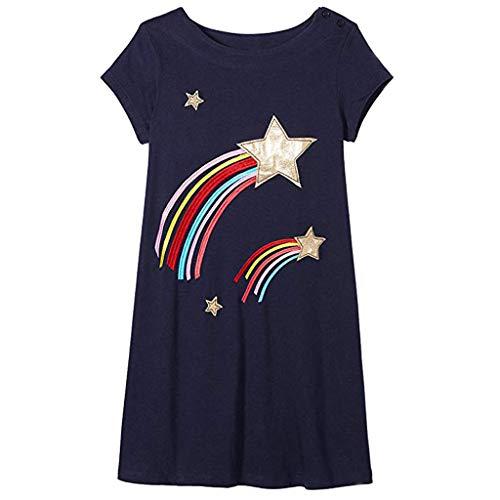 Baby Mädchen kelid Yesmile Sommer bunt Pferd drucken Kleid Mädchen Kleider Baby niedlich Mode süße Kleidung Partykleid Strandkleid Minikleid