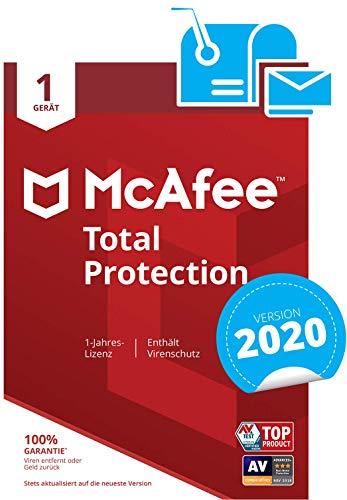 McAfee Total Protection 2020   1 Gerät   1 Jahr   PC/Mac/Smartphone/Tablet   Aktivierungscode per Post
