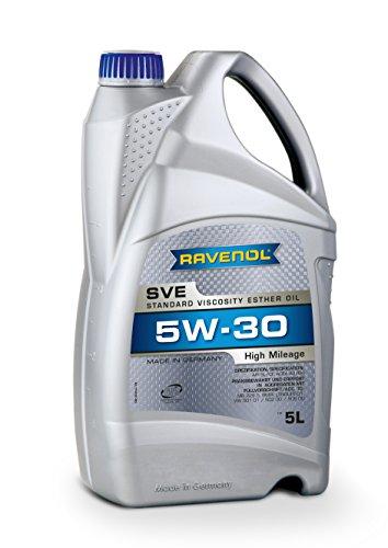 RAVENOL SVE SAE 5W-30 / 5W30 Teilsynthetisches Motoröl für hohe Laufleistung ab 100.000 km (5...