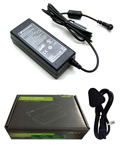 FUGEN Laptop Battery Adapter Charger 65w 19v 3.42a for Acer Aspire E5-551, 551G, 553G, 571, 571G, 573G, 573TG, 574G and 575G