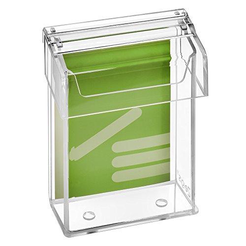DIN A6 Prospektbox/Prospekthalter / Flyerhalter im Hochformat, wetterfest, für Außen, mit Deckel, aus glasklarem Acrylglas - Zeigis®