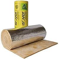 Conducto de aislamiento ISOVER glasswool manta de 25mm de grosor, acabado satinado quedando 18m de longitud 1,2m de ancho