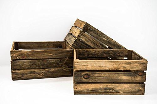 Set 3 Cajas de Madera Pino Sam