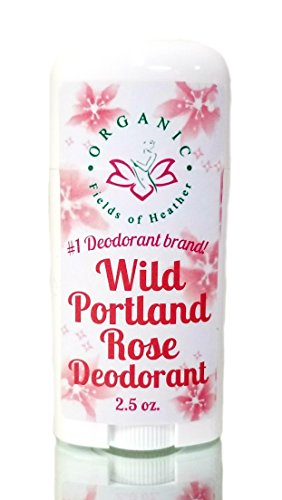 Organic Deodorant-Wild Portland Rose-Healthy All Natural Deodorant Detoxes With No Aluminum - Handcrafted In New...