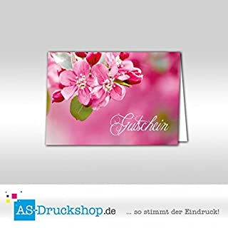Gutschein Floristik - Kirschblüte / 25 Stück/DIN A6