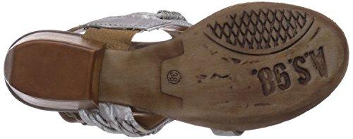 A.S.98  542002-7760-9858, Sandales pour femme Blanc - Elfenbein (argento+natur)