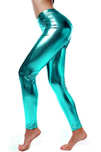 diamondkit-liquid-wet-look-shiny-metallic-stretch-leggings-m-blue
