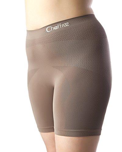 Chaffree Frauenunterhose, lang, Anti-Scheuer-Funktion, Miederteil, Yoga-/Laufsportbekleidung, Dessous, dehnbar Gr. S/M, Truffle