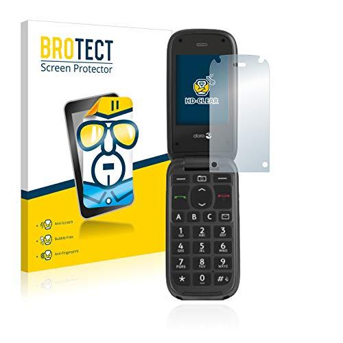 BROTECT Schutzfolie kompatibel mit Doro PhoneEasy 613 [2er Pack] klare Bildschirmschutz-Folie