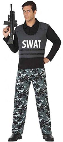 SWAT Kostüm Polizist Polizei Herren, Größe:XL;Modell:Herren
