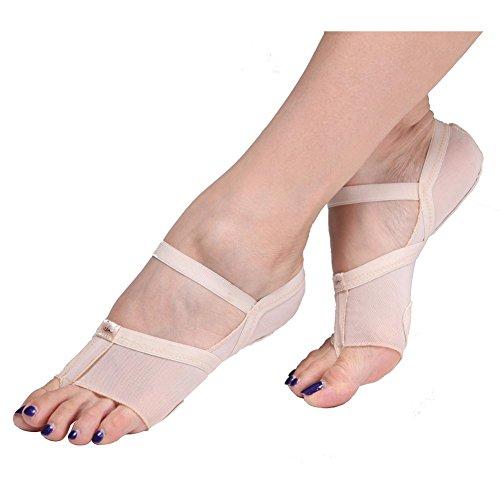 Erwachsene Ballett Bauchtanz Toe Pad Halb Weiche Sohlen Schuhe Fitness Praxis Einlegesohlen Neutral / Pack Von 2 / . Skin Color . (Size Kostüm Plus Bauchtänzerin)