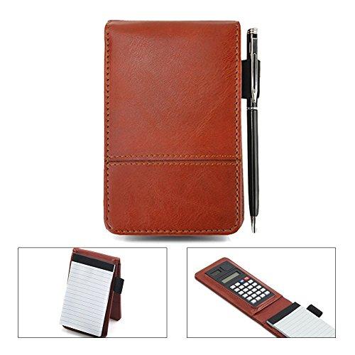 Cuaderno cocer-Agenda Mini calculadora bloc-note