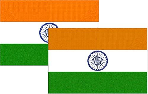 Indien Souvenirs (Motorrad- Aufkleber 2 Stück Indien Flagge Tourist Souvenir)