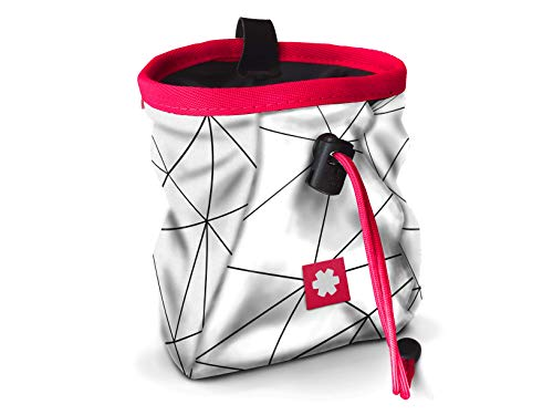 Ocun Lucky Chalkbag Magnesiumbeutel (White/Neon Pink, Einheitsgröße)