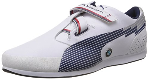 Puma Men's evoSPEED Low BMW White and Medieval Blue Leather Sneakers - 7 UK/India (40.5 EU)  available at amazon for Rs.5499