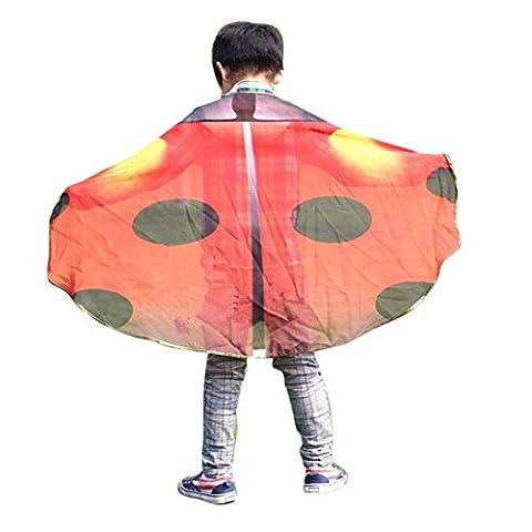 Hunpta Kind Kinder Jungen Mädchen Bohemian Schmetterling Print Schal Pashmina Kostüm Zubehör (Watermelon (Baby In Watermelon Kostüm)