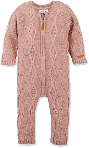 NAME IT Baby-Mädchen NMFWRILLA Wool LS Knit Suit NOOS Spieler, Rosa Woodrose, 80